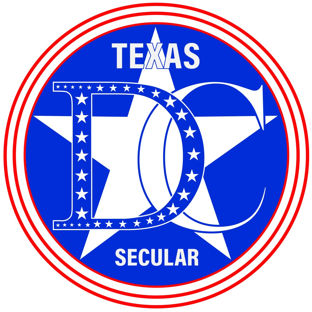 Texas Democratic Secular Caucus logo 2019 - cmyk
